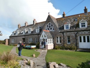 Arriving at Bishop's House, Iona October 2014